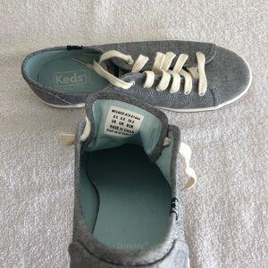 "Keds Shoes - Keds ""Kickstart"" Chambray Blue Sneakers"
